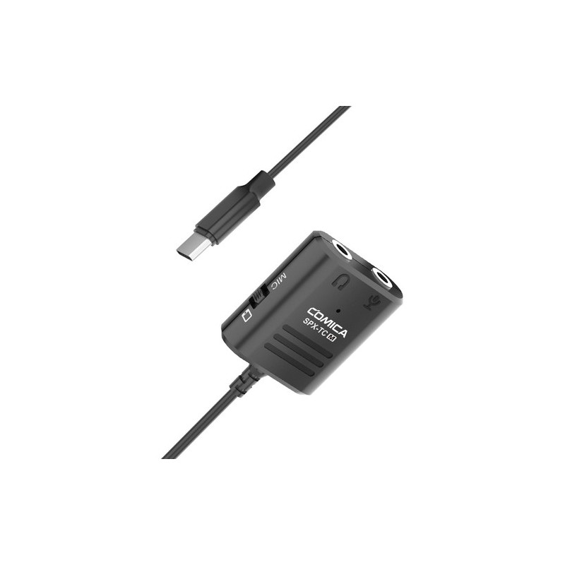 """Comica Audio CVM-SPX-TC(M) 3.5mm TRS/TRRS to USB Type-C to Female Adapter Cable (10.2"""")"""